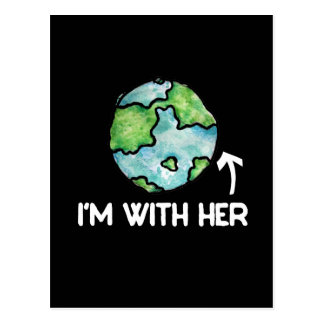 I'm with mother earth day postcard