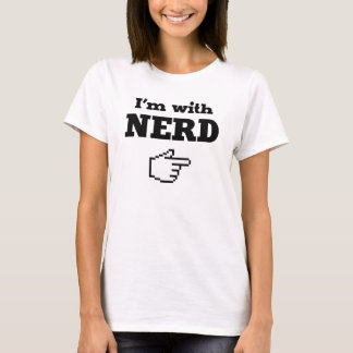 I'm with Nerd T-Shirt