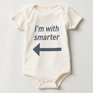 I'm with smarter - left baby bodysuit