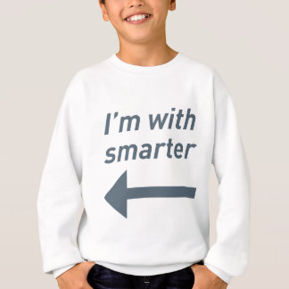I'm with smarter - left t-shirts