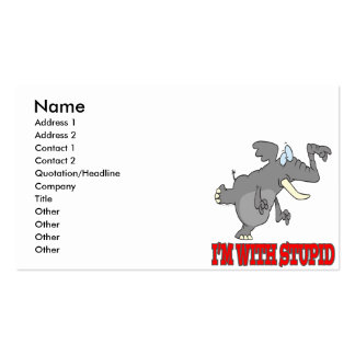 im with stupid funny pointing elephant pack of standard business cards