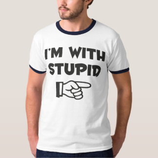 I'm with stupid - His - Men's T-Shirt