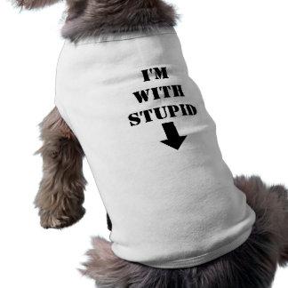 I'm With Stupid Humorous Dog T-Shirt