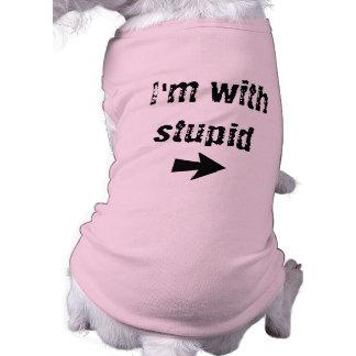 I'm With Stupid - right arrow- Dog Tank Shirt