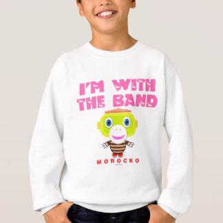 I'm With The Band-Cute Monkey-Morocko Sweatshirt