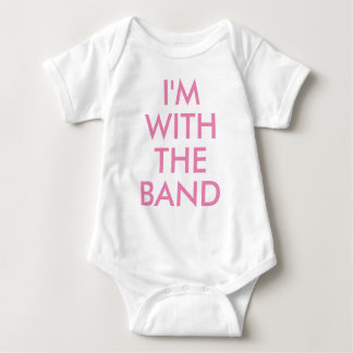 I'm with the band | Kids Baby Girl Bodysuit