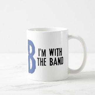 I'm With The Band Basic White Mug