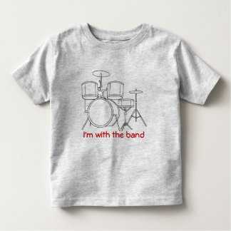 I'm with the band T-shirt black outline