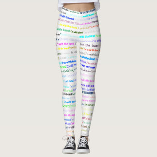 I'm With The Band Text Design II Leggings