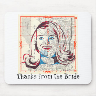 I'm with the Bride Mouse Pad