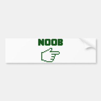 I'm With The Noob Newbie Bumper Sticker