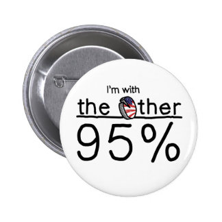 I'm with the Other 95% 6 Cm Round Badge
