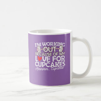 I'm Working Out Because of my Love for Cupcakes Coffee Mug