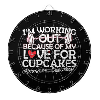 I'm Working Out Because of my Love for Cupcakes Dartboard