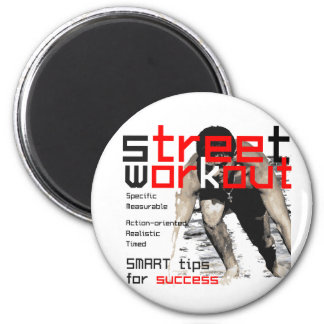 i'm workout 6 cm round magnet