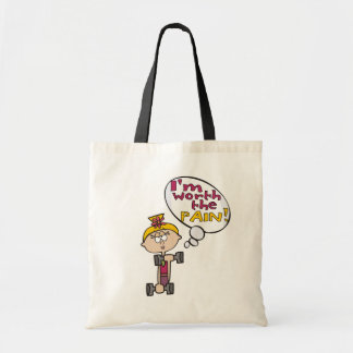 I'm Worth the Pain Fitness Canvas Bag