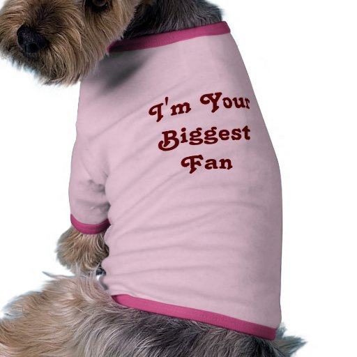 'I'm Your Biggest Fan'  Doggie Ribbed Tank Top Doggie Tshirt