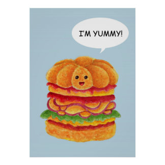 I'm Yummy! - Burger Series Poster