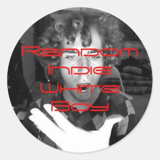 Image23, Random Indie White Boy Round Sticker