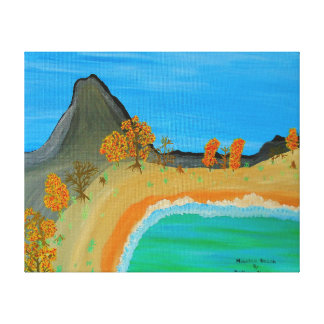 Image 600-dpi 20'x16'Picture Mountain Beach Canvas Print