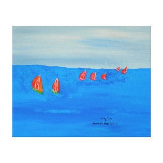 Image 600-dpi 20'x16'Picture Yachting Canvas Print