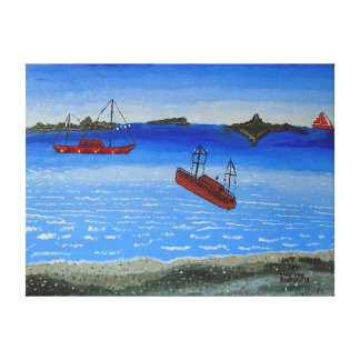Image 600-dpi 24'x18'Picture Safe Harbor Canvas Print
