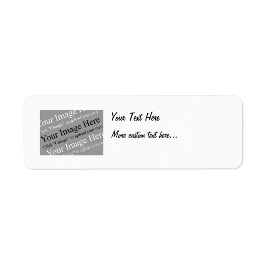 Image and Text Custom Return Address Labels
