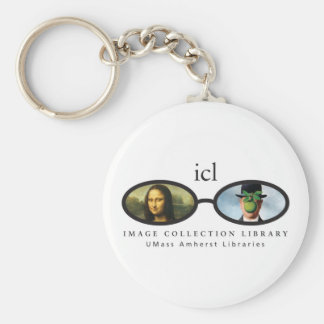 Image Collection Library Basic Round Button Key Ring
