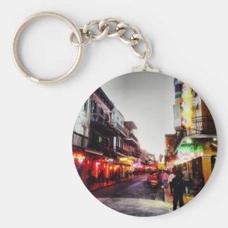image.jpg New Orleans night life Basic Round Button Key Ring