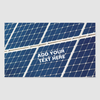 Image of a solar power panel funny rectangular sticker