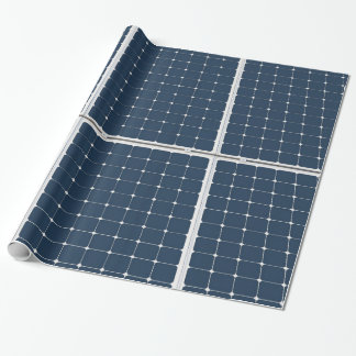 Image of a solar power panel funny wrapping paper
