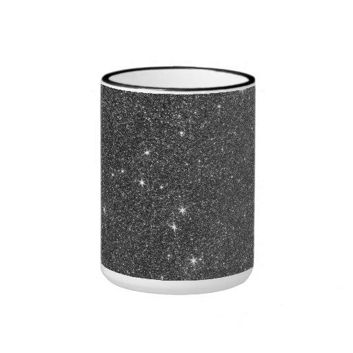Image of Black and Grey Glitter Mugs