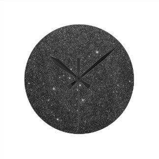 Image of Black and Grey Glitter Wallclocks