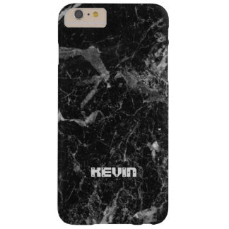 Image Of Black Marble Stone Texture Monogram Barely There iPhone 6 Plus Case