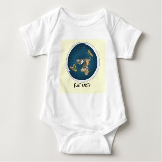Image Of Flat Earth Baby Bodysuit