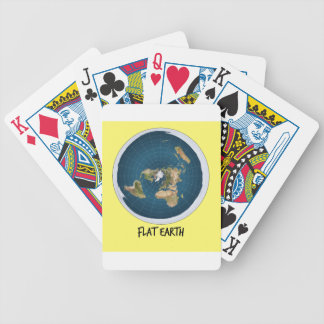 Image Of Flat Earth Bicycle Playing Cards