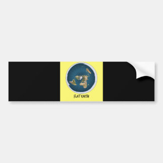 Image Of Flat Earth Bumper Sticker