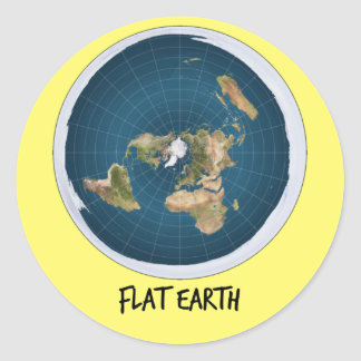 Image Of Flat Earth Classic Round Sticker