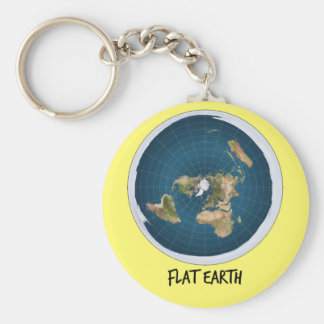 Image Of Flat Earth Key Ring