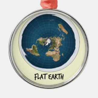 Image Of Flat Earth Metal Ornament
