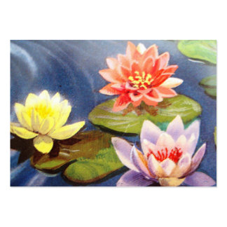 image of flowers in a lake business card templates