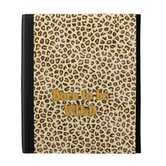 """Image of Glitter """"Born to be Wild"""" on Leopard iPad Cases"""