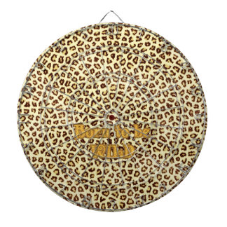 """Image of Glitter """"Born to be Wild"""" on Leopard Dartboards"""