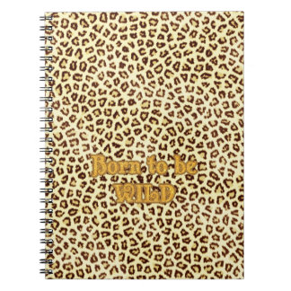 """Image of Glitter """"Born to be Wild"""" on Leopard Note Books"""