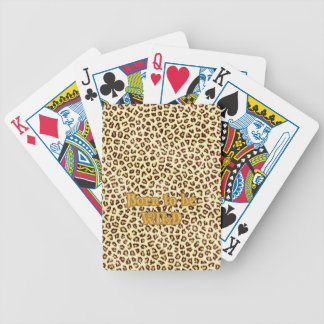 """Image of Glitter """"Born to be Wild"""" on Leopard Deck Of Cards"""