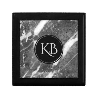 Image Of Gray Marble Custom Monogram Gift Box