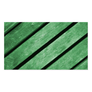 Image of Green Planks of Wood Business Card Template
