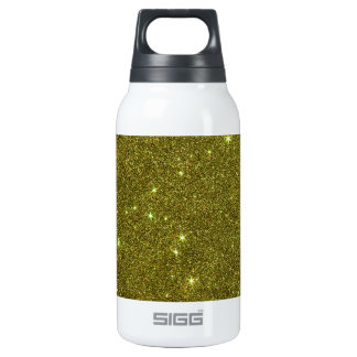 Image of greenish yellow glitter 0.3 litre insulated SIGG thermos water bottle