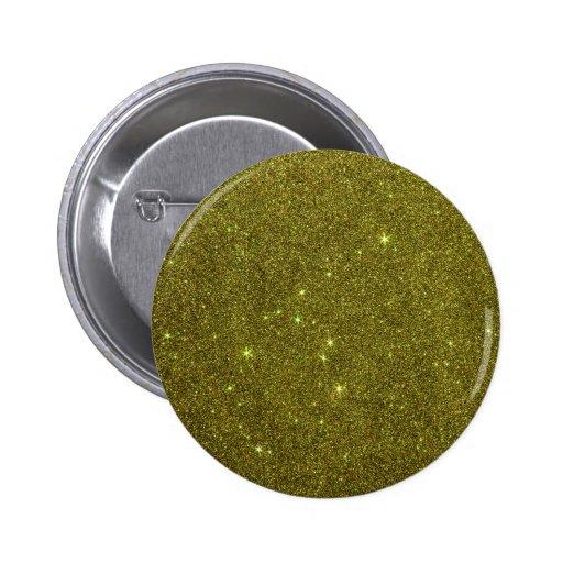 Image of greenish yellow glitter pin