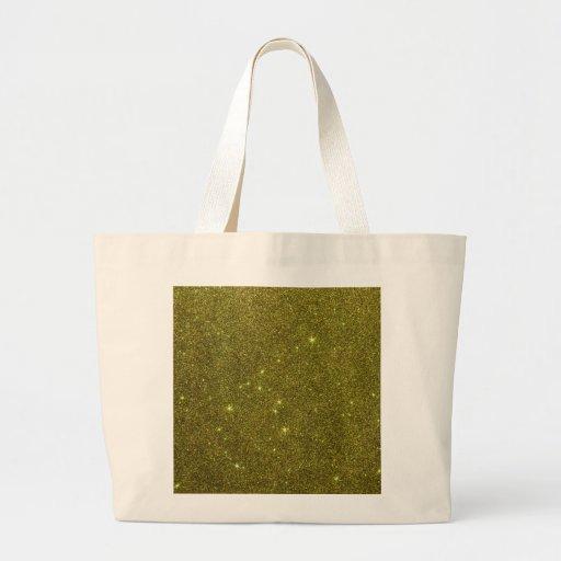 Image of greenish yellow glitter canvas bag